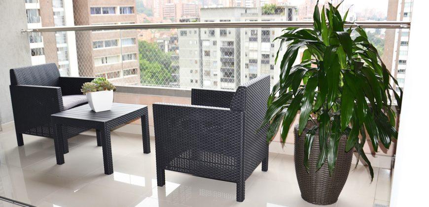 Apartamento amoblado en la ciudad de Medellín – Sector Los Parra